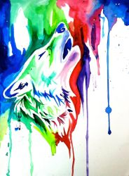 Rainbow Wolf 4 (On Ebay) by Lucky978
