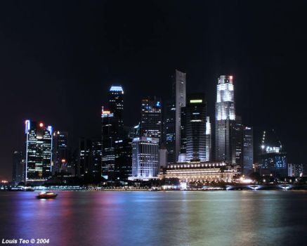 Singapore Night Scene 01 by acrylonithrill