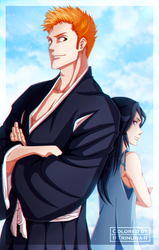 Bleach 74 Cover  - The Death and Strawberry by II-Trinuma-II