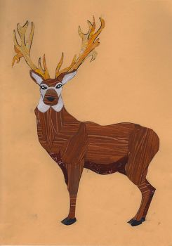 Brown Stag by Purpledragongirl