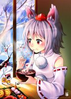 First day of the New Year with Momiji by Noxmoony