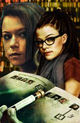Orphan Black #1 cover E Sarah and Cosima by gattadonna