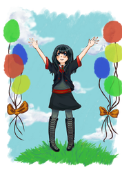 Chalk balloons for Hoshi! by PaperSun96