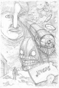 The Devil and The Detective page 14 Rough Pencils by JJ422