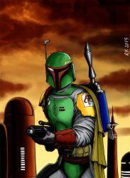Boba Fett (Star Wars) by robertokohama