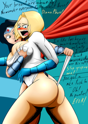 Powergirl meets Wonder Woman by the-killer-wc