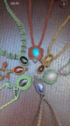Macrame Crystal Healing Necklaces by Mawee79