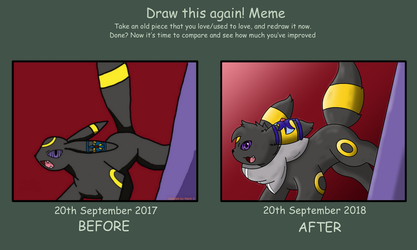 Draw again this Meme ( 2017 - 2018 ) by Umbry17