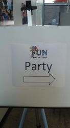 This way to the party at Fun Productions by mylesterlucky7