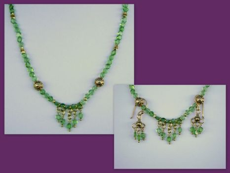 Janet - Peridot and vermeil by whitewavejewelry