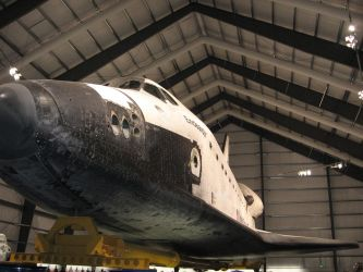 Space  Shuttle Endeavor . by Transportphotos