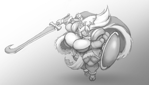 Grayscale Comm: Into Battle by Thorvrog