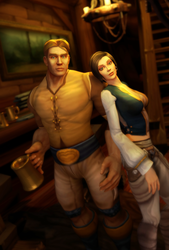 Freywood and Kynleigh by mystmantle