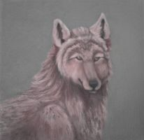 Wolf - Oil paints by Tirana-Weaving