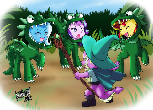 Spike the Brave and Glorious Dragon Trainer by Titanium-dats-me