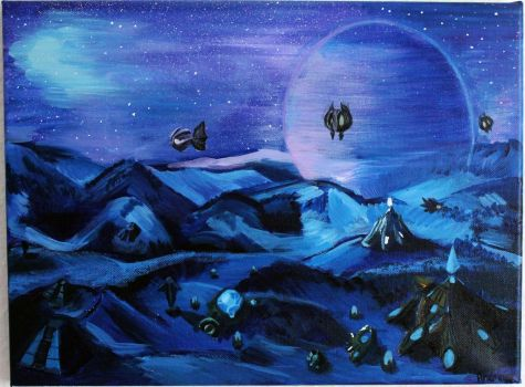 Protoss mission painting by andrinja