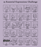 25ExpressionsFrisk by TheMeekWarrior