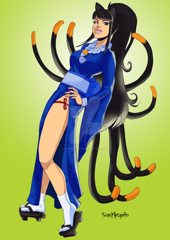 [C] Nine Tails Catgirl by roemesquita