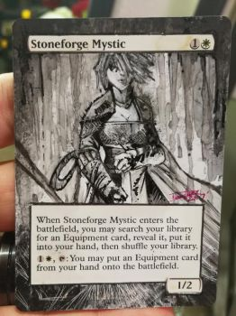 Stoneforge Mystic MTG Alter by deadlanceSteamworks