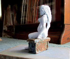 Ellie - nude sculpture by AnulkaD