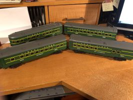 Lionel #11712 Great Lakes Express Passenger Cars by TNO-794