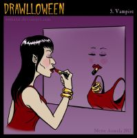 Drawlloween: Vampire by Osmatar