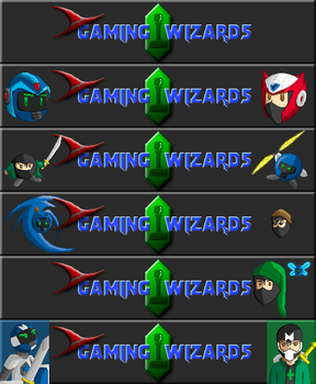 Gaming Wizards logos (set 1) by Zanshlou