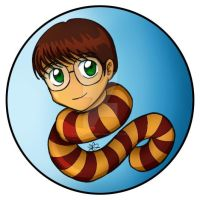 Chibi Harry Potter by the-winter-girl