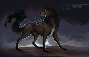 [CLOSED] 'Night Lurker' Canine auction by Eredhys