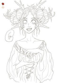 Work progress Diana the oracle of the woods by kitsune89