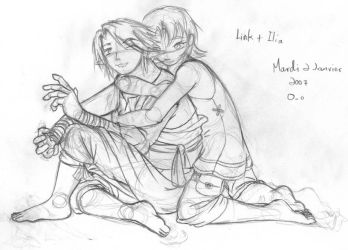 Link and Ilia sketch by supertimer