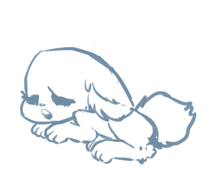 Sleepy Pup pose by Snekmm