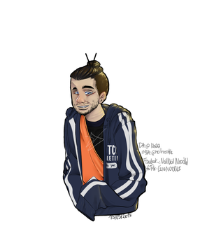 PORTRAIT OF MATHIEU SOMMET by l2naa