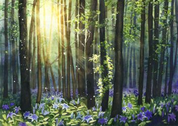 Blue lilies forest by JoaRosa