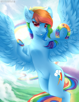 Rainbowdash + Speedpaint by SerenityScratch