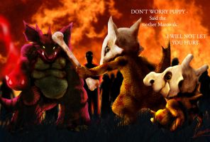 The courage of Marowak for Cubone by badafra