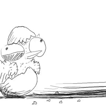 Animated Doodle - Chick by CherryGrabber