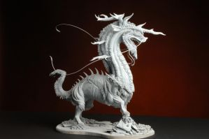 Unpainted Kirin Sculpture by LucidDesignFX