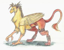 FF7 Chocobo Nanaki Gryph by sparrowstampede
