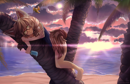 Elinu summer time by LuckyXClover
