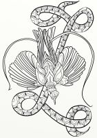 Bird of Paradise Adult Coloring Page by LorraineKelly
