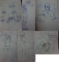 Puzzles Characters: Sketches by Izzi1313
