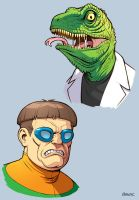 The Lizard and Doctor Octopus by D-MAC