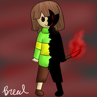 Glitchtale Chara by breadcheese444