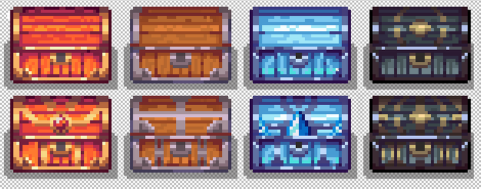 10th Pixel Art - Treasure Chests by TrepkSoto