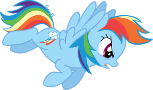 Rainbow Dash's angry by graou13