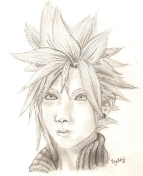 FFVII:AC Cloud Sketch by Momorii
