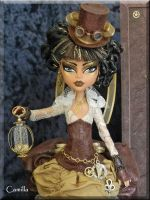 Camilla- Custom OOAK Steampunk time traveler by KrisKreations