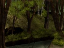 Forest Stream by Tephra76