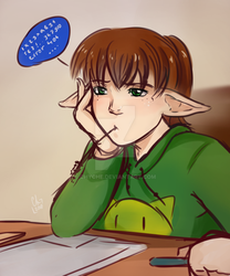 Sketch - Michi on the lesson by Chyche